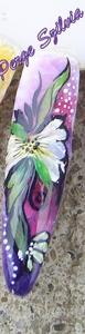 Akril festékkel díszített műköröm